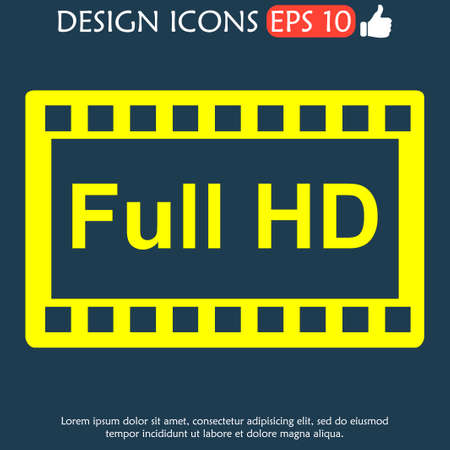 definition: high definition design over. Flat design style. vector illustration.