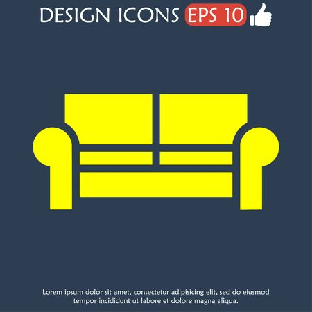 comfortable: Comfortable sofa Icons. Vector Illustrator.  Illustration