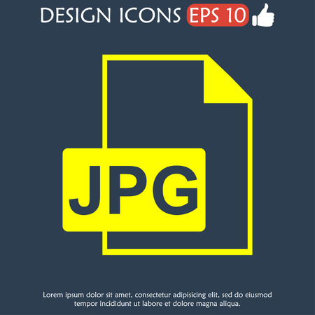 illustrator 10: Jpg icon file vector. Flat vector illustrator Eps 10
