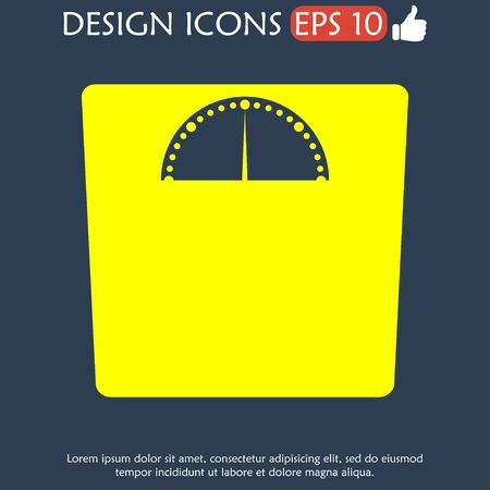 weighting icon. Vector illustration EPS 10 flat