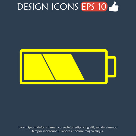 Battery icon. Flat vector illustrator Eps 10 Vector