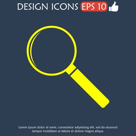 illustrator 10: magnifier - vector icon. Flat  illustrator Eps 10 Illustration