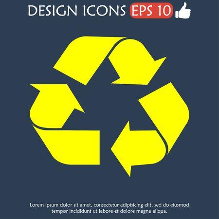 sign in: Recycling-Zeichen in der wei�en Farbe - isoliert. EPS
