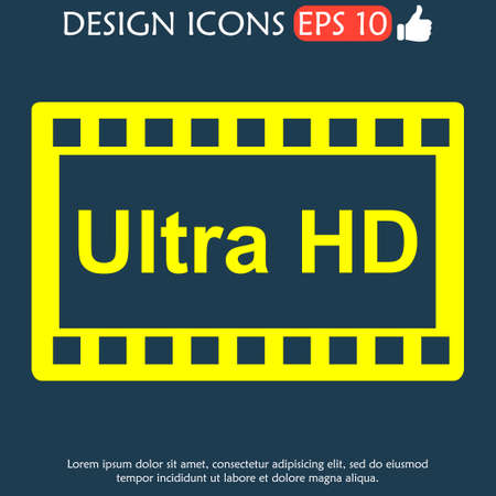 definition high: high definition design over. Flat design style. vector illustration.