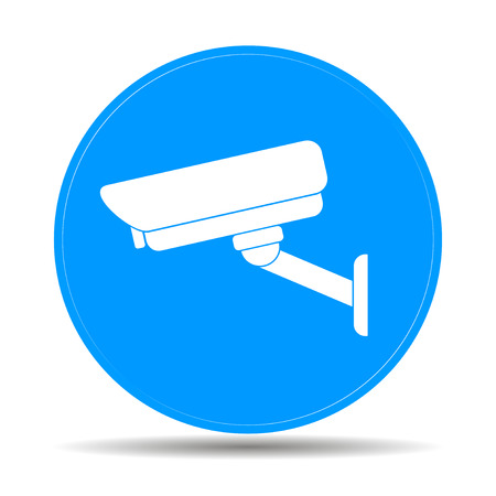 vector illustration silhouette of surveillance cameras. EPS