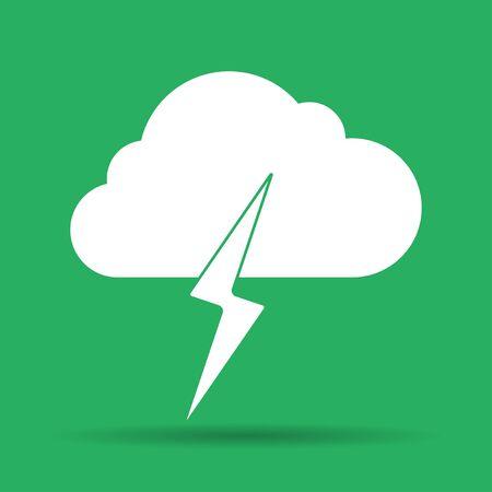 broshure: Lightning bolt weather flat line icon infographic illustration template for web or brochure. Vector illustration.