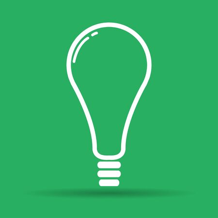 illustrator 10: Vector flat Lightbulb Icon. Illustrator EPS 10