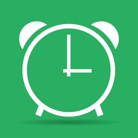illustrator 10: clock icon,  Vector flat Illustrator EPS 10