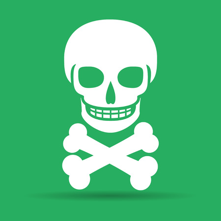illustrator 10: Skull icon isolated. Flat vector illustrator Eps 10