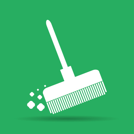 dustpan: Broom vector icon Flat vector illustrator Eps