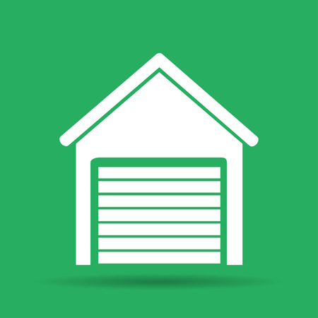 illustrator 10: Garage icon. Flat vector illustrator EPS 10