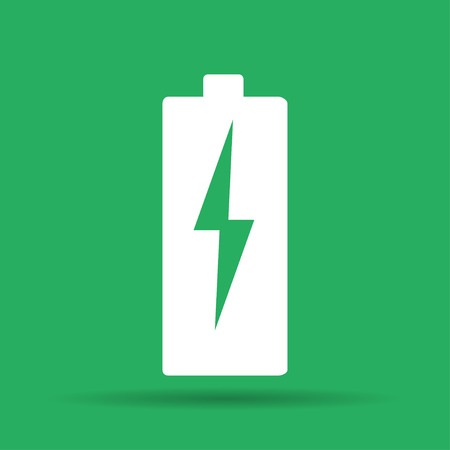 Illustration of Flat Battery Sign Vector Charging Energy Symbol Background Vector