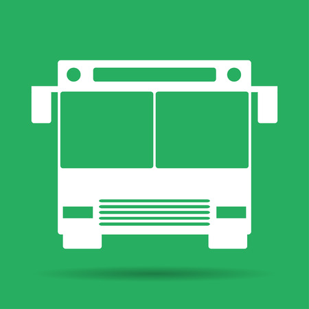 illustrator 10: Bus icon Flat vector illustrator Eps 10