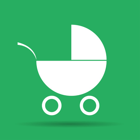illustrator 10: Pram icon. Flat vector illustrator Eps 10