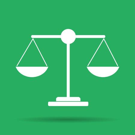 balanza en equilibrio: Escala icono - ilustración vectorial. EPS Piso 10