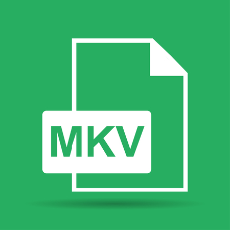 illustrator 10: mkv file icon. Flat vector illustrator Eps 10