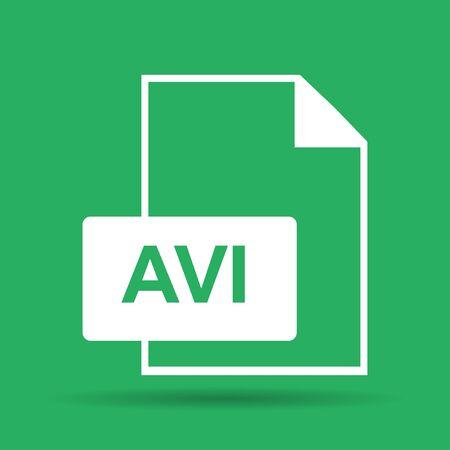 avi: avi file icon. Flat vector illustrator  Illustration