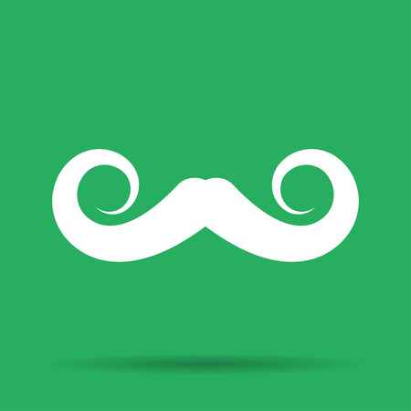 hair mask: mustaches vector icon, Vector flat Illustration EPS