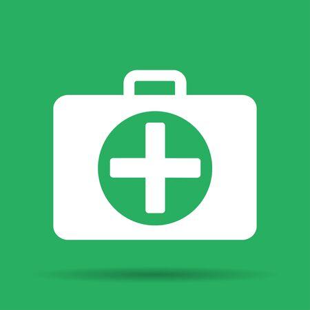 medic: ambulanse icon - Vector icon. Flat illustrator Eps Illustration