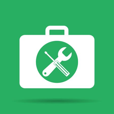 tooling: Toolbox vector icon. Flat vector illustrator Eps