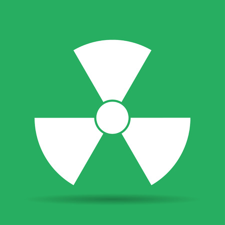 illustrator 10: radiation symbol. Flat vector illustrator Eps 10 Illustration
