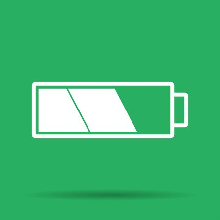 illustrator 10: Battery icon. Flat vector illustrator Eps 10 Illustration
