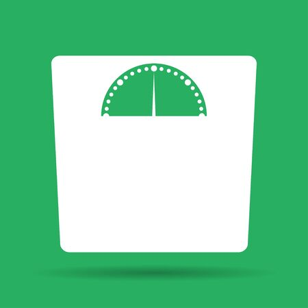 weight scales: weighting icon. Vector illustration EPS 10 flat