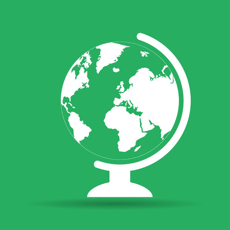 geography school earth globe web icon. vector illustration Vector