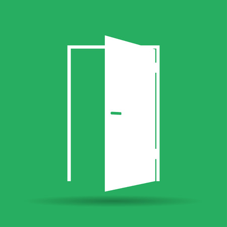 illustrator 10: Door icon. Flat vector illustrator Eps 10