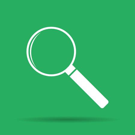 circumference: magnifier - vector icon. Flat  illustrator Eps 10 Illustration