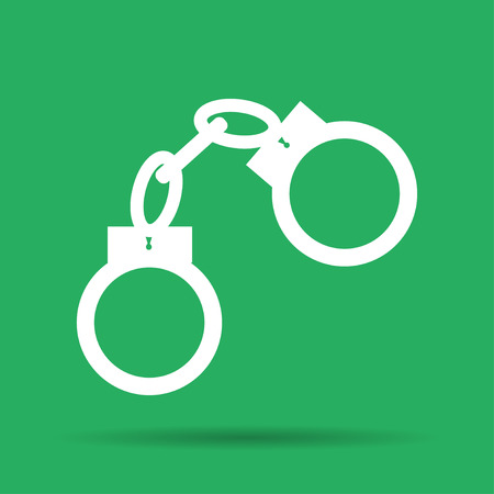 illustrator 10: handcuffs icon. Flat vector illustrator Eps 10