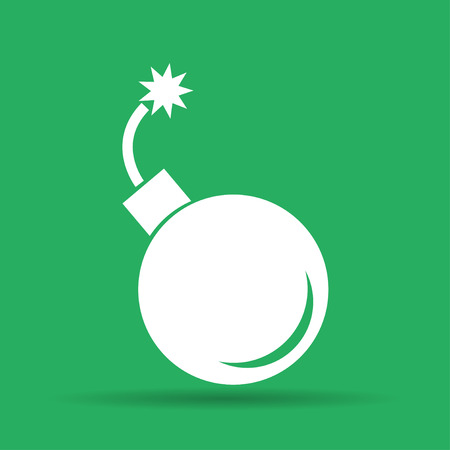illustrator 10: bomb icon. Flat vector illustrator Eps  10 Illustration