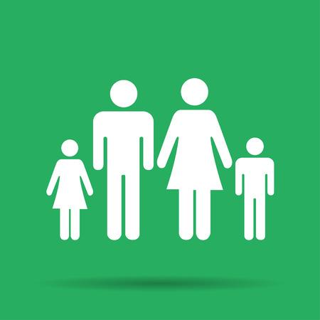 matrimonial: family icon. Flat design style eps 10 Illustration