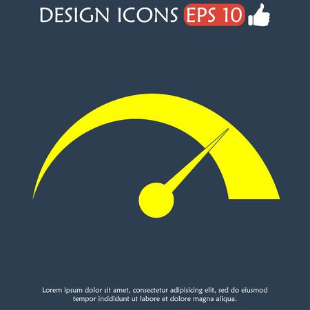 dsl: Vector speedometer icon Flat vector illustrator Eps
