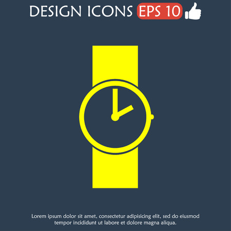 wristwatch: Wristwatch icon. Flat design style eps 10