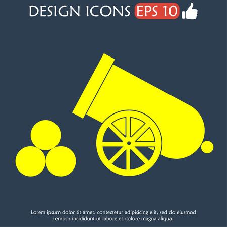 retro cannon Flat vector illustrator Eps 10