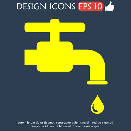 illustrator 10: Tap icon. Flat vector illustrator Eps 10