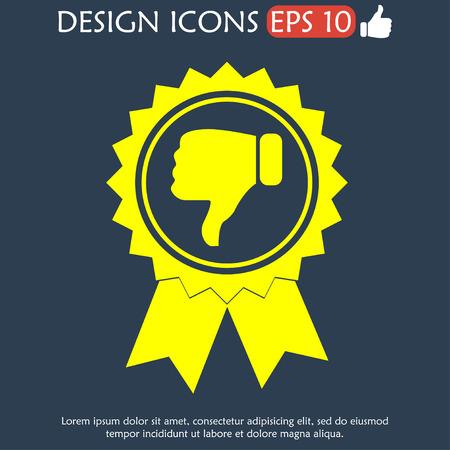 medal like: Vector medallion icon. Flat vector illustrator Eps  10
