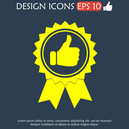 illustrator 10: Vector medallion icon. Flat vector illustrator Eps  10
