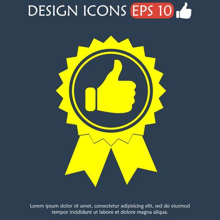 medallion: Vector medallion icon. Flat vector illustrator Eps  10