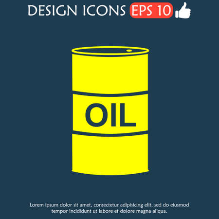 stock listing: Vector icon barrels of oil. Flat illustration EPS Illustration