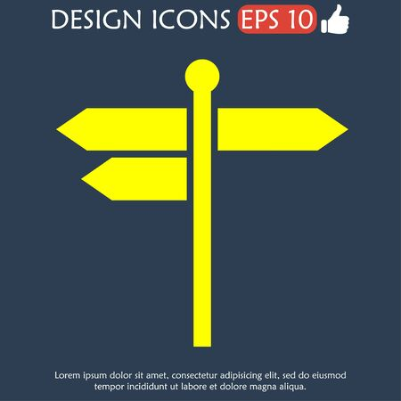 guidepost: signpost icon. Flat Vector illustration EPS 10