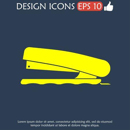 paper punch: Stapler icon- Vector, vector eps 10 illustration