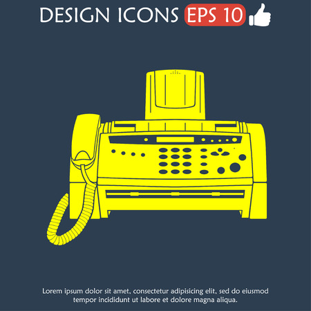 faxger�t: Fax-Symbol, EPS Vektor 10 Abbildung