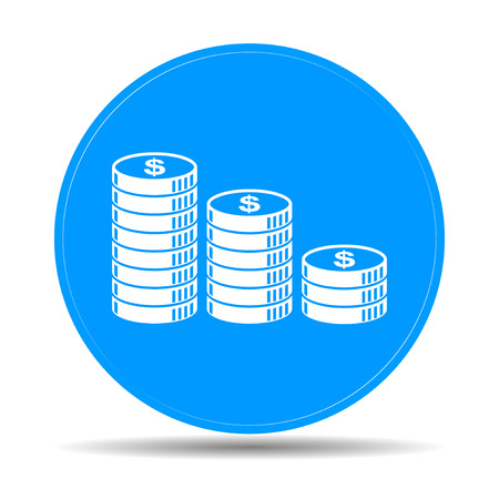 coins stack: stack of coins icon. Design style eps 10 Illustration