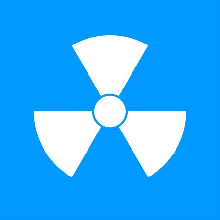 caution chemistry: radiation symbol. Flat design style eps 10 Illustration