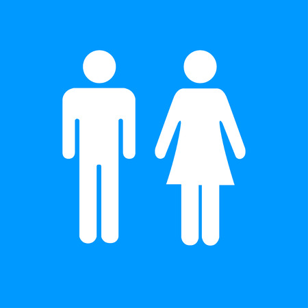 family man: Vector man and woman icons, toilet sign, restroom icon, minimal style, pictogram