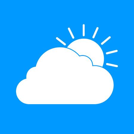 morning sunrise: sun cloud icon. Flat design style  Illustration