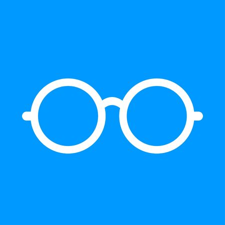 spectacle frame: Glasses icon. Flat design style