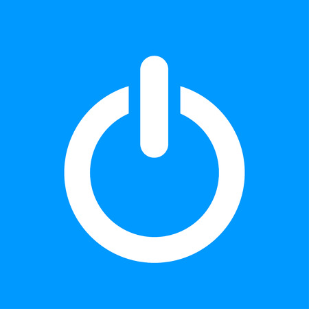Flat icon of power. Flat design style